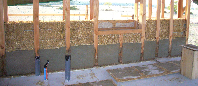 Auto construction d une maison en paille technique du greb for Construction de maison en paille